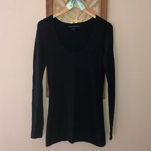 Long sleeve dark navy sweater